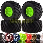 RC 1/10 Off Road Monster Truck Wheel Rim&Tyre Tires 6009-3000 HSP HPI 8Colors