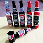 Aluminum Creative Small Beer Bottle Stlye Smoking Pipe Tobacco Pipe Ideal Gift
