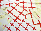 English St Georges Cross Flag Stickers England Labels - Various Shapes & Sizes