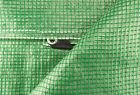 GREEN REINFORCED TARPAULIN WITH NYLON MESH & REINFORCED EYELETS SHEETING TARP