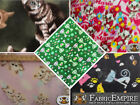 """Polar Fleece Printed Fabric CATS 60"""" Wide Sold By the Yard"""