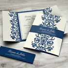 Personalised Gatefold Wedding Day Evening Invitations with Envelopes