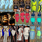 Women Stretchy Jumpsuit Cocktail Club Evening Party Bandage Bodycon Dress ad