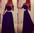 Fashion Women Off-shoulder Formal Party Cocktial Evening Gown Long Maxi Dress