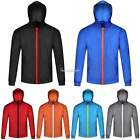 New Men Long Sleeve Zipper Hooded Wind Resist Sports Coat Jacket Outwear SH