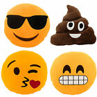 Emoji Emoticon Smiley Face Yellow Round Cushion Pillow Stuffed Plush Novelty Toy