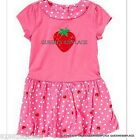 Nwt Crazy 8 girls  pink red strawberry dot dress size 18-24 months 2 2T 3 3T new