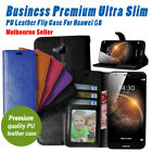 G8 Durable Flip Gel Leather Business Wallet Cover For Huawei OZ
