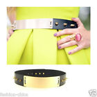 Fashion Chic CelebStyle Spike  Metallic Mirror Gold Plate Metal Belt