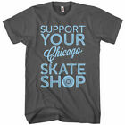Support Your Chicago Skate Shop T-shirt - Skater Ice Skating Chi IL - Men S-4XL