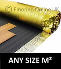 5mm or 6mm Gold Underlay - Wood or Laminate Flooring Acoustic & Heat Insulation