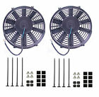 "2 x 7"" SLIM LINE RADIATOR COOLING FAN 12V UNIVERSAL UK"