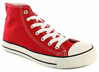 New Mens/Gents Red Canvas Hi Tops Lace Ups Summer Fashion Boots. UK SIZES