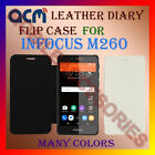 ACM-LEATHER DIARY FOLIO FLIP CASE for INFOCUS M260 MOBILE FRONT & BACK COVER NEW