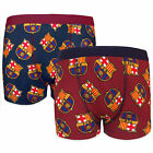 FC Barcelona Official Soccer Gift 2 Pack Boys Crest Boxer Shorts