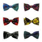 Mens Tartan/Plaid Black Watch Douglas Royal Stewart 100% Wool Pre-Tied Bow Ties