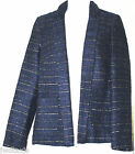 NWT George Asda Wool Mix Blue with Gold Metallic Thread Jacket Blazer Coat 8-22