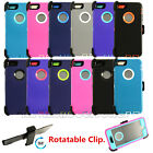 "New Defender Shockproof Case Cover For Apple iPhone 6 4.7""/5.5"" Plus w/Belt Clip"