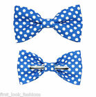 Blue With White Dots Clip On Bow Tie Choose Men / Boys 2T 3T 4T