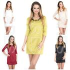 Ladies Tunic One Size 8/10/12 Women's Dress Decration Necklace 3/4 Sleeves  Top