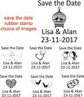 PERSONALISED SAVE THE DATE RUBBER STAMP 11622 WEDDING,ENGAGEMENT,CELEBRATION