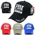 FBI FIRM BELIEVER IN JESUS Baseball Cap Religious Christian Adjustable Hat New