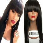7A grade silk straight 100% brazilian remy human hair full/ front lace wig