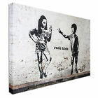 Rude Kids Banksy Inspired Canvas wall Art prints high quality great value