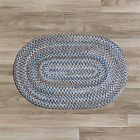 Colonial Mills Oak Harbour 100% Wool Cottage Area Braided Rug Laguna Blue OH58