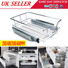 PULL OUT WIRE BASKET KITCHEN LARDER CUPBOARDS SHELF DRAWER 4 SIZES AVAILABLE