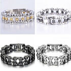 """Heavy 316L Stainless Steel Cool Men's Wristband Bicycle Biker Bracelet Bangle 9"""""""