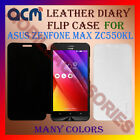 ACM-LEATHER DIARY FOLIO FLIP CASE for ASUS ZENFONE MAX ZC550KL FRONT/BACK COVER