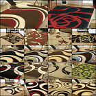 LARGE MEDIUM SMALL MODERN QUALITY CONTEMPORARY CLEARANCE BLACK RED GREEN RUGS