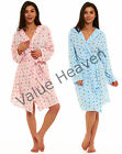 Ladies Summer Dressing Gown Hooded Tie Robe Jersey Day Dream Ice Cream Blue Pink