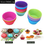 12pcs Silicone Cake Muffin Chocolate Cupcake Liner Baking Cup Cookie Mold 7cm RF