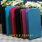 Vertical Magnetic Litchi Crystal Skin flip case cover for Sony Motorola Phone