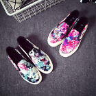 Galaxy Fashion Women's Low Top Slip On Sneakers Casual Canvas Shoes Low Flats