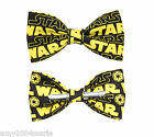Star Wars Yellow / Black Clip On Cotton Bow Tie