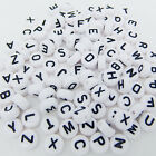 100pcs 4x7mm Acrylic A-Z Individual Alphabet Letter Coin Round Flat Spacer Beads