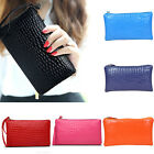 New Women Portable Alligator Texture Wallet Zipper Clutch Bag Handbag Coin Purse