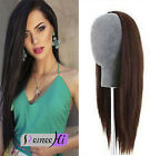"Charming 18"" 180g  3/4 Half Wig Human Hair 100% Indian Remy Human Hair Any Color"