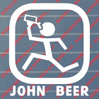 John Beer Decal - Truck, Car, Funny, Import, Tuner, Hunting, Fishing