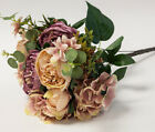 Artificial Silk Peony Flower Bouquet (NO.4) -8 Colours Wedding Centrepiece Decor