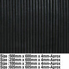 Ribbed Rubber Anti Vibration Mat / Pads Reducing Noise & Sound Deadening Mats
