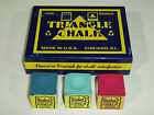 4 x PIECES OF TRIANGLE CHALK AVAILABLE IN VARIOUS COLOURS $7.39 USD on eBay