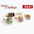4pcs 10mm Adjustable Ring For Setting, fit Swarovski 4470, Choose your Finish