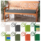 Outdoor Waterproof 3 Seater Tie On Bench Pad Garden Furniture Swing Seat Cushion