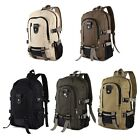 Men Military Outdoor Canvas Backpack Rucksack for Hiking Camping
