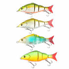Jointed Swim Bait Fishing Lures 4 Segments Bass Pike Muskie Killer 4 color