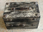 Quality Unusual Solid Wood Shabby Chic Card Box With Rustic Metal Detail